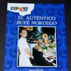 Coleccionismo: FOLLETO NORUEGA, EXPO´92 SEVILLA. Lote 75510531