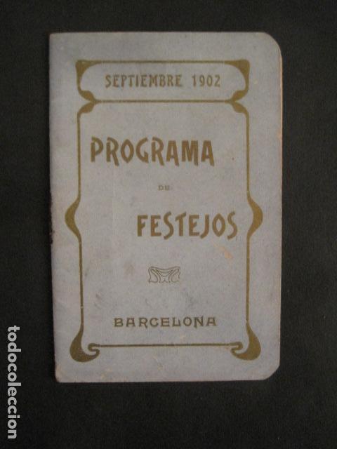FIESTAS MERCE AÑO 1902 - PROGRAMA - BARCELONA - VER FOTOS - (V-8977) (Coleccionismo - Varios)