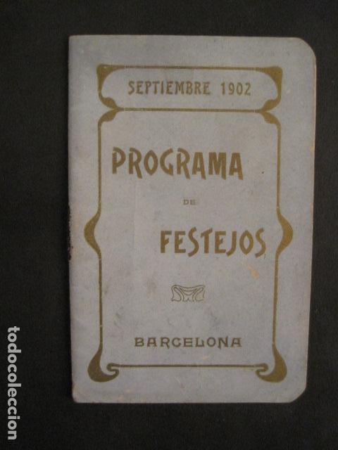 Coleccionismo: FIESTAS MERCE AÑO 1902 - PROGRAMA - BARCELONA - VER FOTOS - (V-8977) - Foto 2 - 75642923