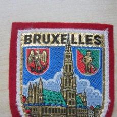 Coleccionismo: ESCUDO BORDADO DE BRUSELAS (BELGICA ) 1958. Lote 75721511