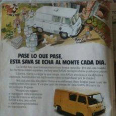 Collezionismo: PUBLICIDAD FURGONETA SAVA PEGASO J 4 . Lote 75902318