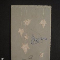 Coleccionismo: SANT FELIU DE GUIXOLS - PROGRAMA BAILES FESTA MAJOR AÑO 1901-CASINO EL GUIXOLENSE-VER FOTOS (V-9003). Lote 76000055