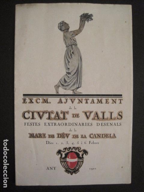 Coleccionismo: VALLS - PROGRAMA FESTES DESENALS MARE DE DEU CANDELA - FEBRER 1921-VER FOTOS -(V-9012) - Foto 2 - 76001531