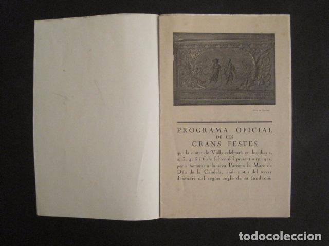 Coleccionismo: VALLS - PROGRAMA FESTES DESENALS MARE DE DEU CANDELA - FEBRER 1921-VER FOTOS -(V-9012) - Foto 3 - 76001531