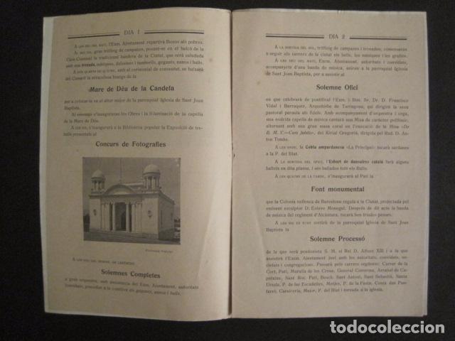 Coleccionismo: VALLS - PROGRAMA FESTES DESENALS MARE DE DEU CANDELA - FEBRER 1921-VER FOTOS -(V-9012) - Foto 4 - 76001531