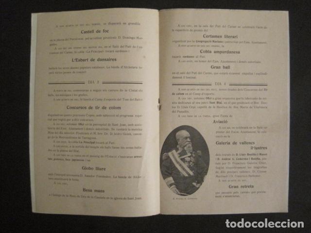 Coleccionismo: VALLS - PROGRAMA FESTES DESENALS MARE DE DEU CANDELA - FEBRER 1921-VER FOTOS -(V-9012) - Foto 5 - 76001531