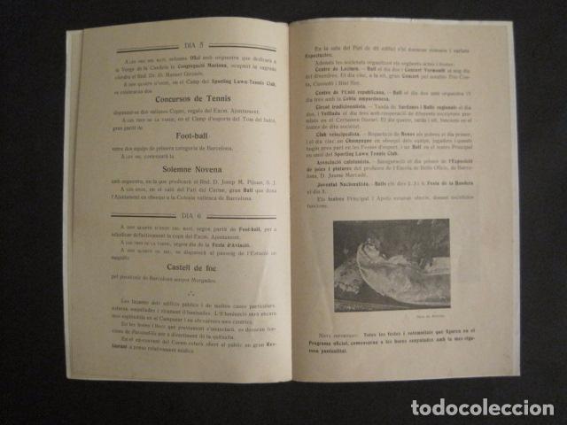 Coleccionismo: VALLS - PROGRAMA FESTES DESENALS MARE DE DEU CANDELA - FEBRER 1921-VER FOTOS -(V-9012) - Foto 6 - 76001531
