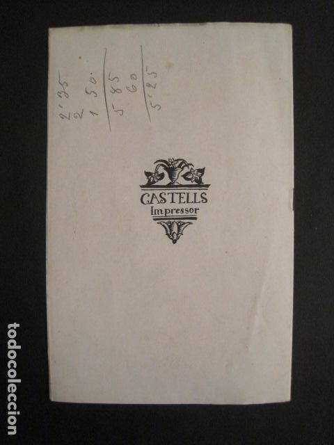 Coleccionismo: VALLS - PROGRAMA FESTES DESENALS MARE DE DEU CANDELA - FEBRER 1921-VER FOTOS -(V-9012) - Foto 8 - 76001531