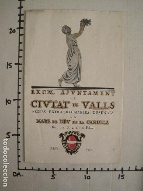 Coleccionismo: VALLS - PROGRAMA FESTES DESENALS MARE DE DEU CANDELA - FEBRER 1921-VER FOTOS -(V-9012) - Foto 9 - 76001531