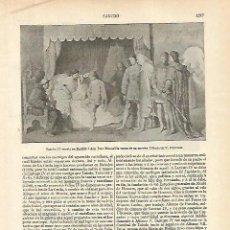 Coleccionismo: LAMINA ESPASA 18416: DIBUJO DE V. MANZANO. Lote 76011091