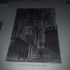 Coleccionismo: GRABADOS HISTORICOS DE NUESTRA PROVINCIA. ARCOS DE LA FRONTERA, H. 1860 ALEU. EST3B2. Lote 76023903