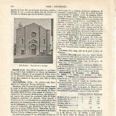 Coleccionismo: LAMINA ESPASA 18190: CATEDRAL DE SALO ITALIA. Lote 76031599