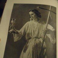 Coleccionismo: 31,5 X 24 ANTIGUA LAMINA SEMANA SANTA SEVILLA BLANCO Y NEGRO - ANGEL HORACION DEL HUERTO Y CRISTO. Lote 76080615