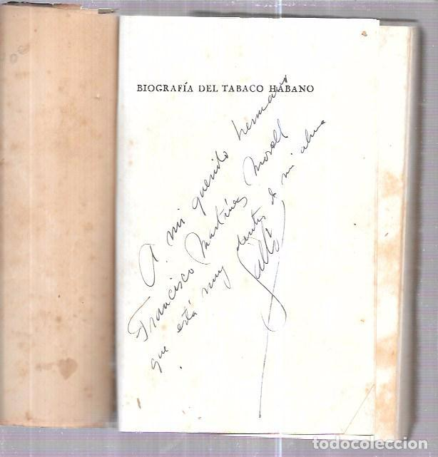 Coleccionismo: LIBRO BIOGRAFÍA DEL TABACO HABANO. GASPAR JORGE GARCÍA GALLÓ. 1959. LA HABANA. CUBA. - Foto 4 - 76204683