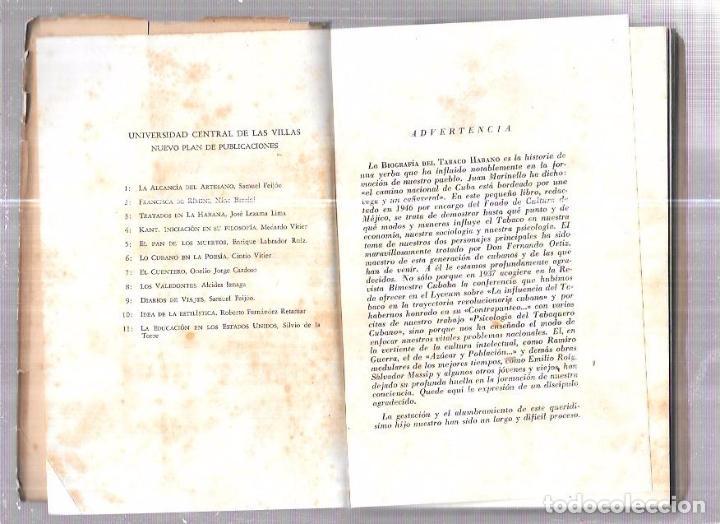 Coleccionismo: LIBRO BIOGRAFÍA DEL TABACO HABANO. GASPAR JORGE GARCÍA GALLÓ. 1959. LA HABANA. CUBA. - Foto 5 - 76204683