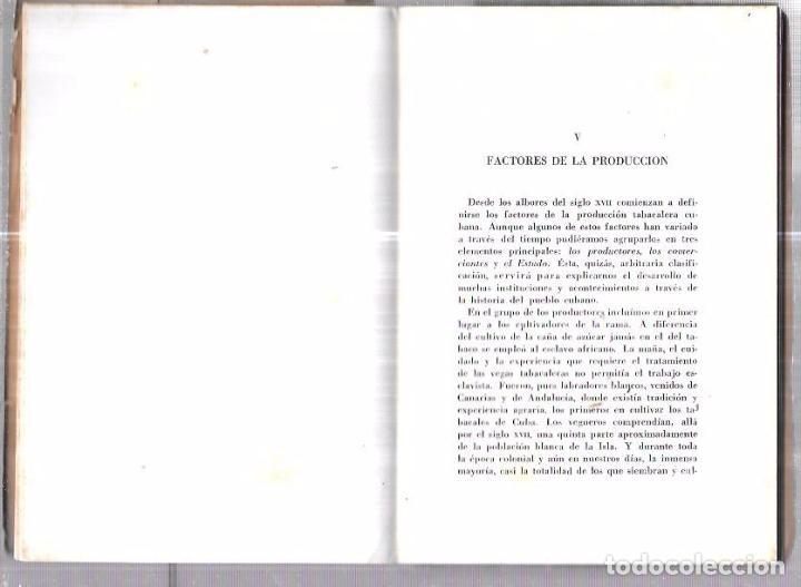 Coleccionismo: LIBRO BIOGRAFÍA DEL TABACO HABANO. GASPAR JORGE GARCÍA GALLÓ. 1959. LA HABANA. CUBA. - Foto 6 - 76204683
