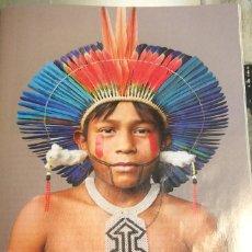 Coleccionismo: FOTOGRAFÍA ARTÍSTICA. INDIO DEL AMAZONAS. PÁGINA DE PRENSA, ENMARCABLE.. Lote 76384027