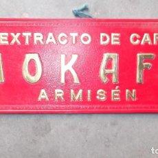 Coleccionismo: CARTEL PUBLICIDAD TROQUELADO CAFE EXTRACTO MOKAFE DE ARMISEN ZARAGOZA AÑOS 40. Lote 113168774