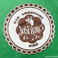 Coleccionismo: POSAVASOS - COASTER - BAR AMERICANO JOSFRANC'S - VIGO. Lote 77110413