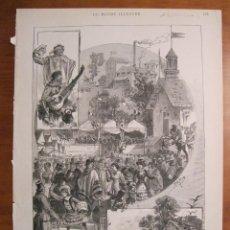 Coleccionismo: ESCENAS DE LA FIESTA DE SAINT-CLOUD, EN LA CIUDAD DE BUENOS AIRES (ARGENTINA), 1883. M. FARIA. Lote 77220469