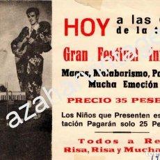 Coleccionismo: CIRCO, TARJETA PUBLICITARIA PAYASOS HERMANOS SEGURA, . Lote 77449369