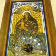 Coleccionismo: CUADRO DECERÁMICA VIRGEN DE LA CINTA. Lote 77624693