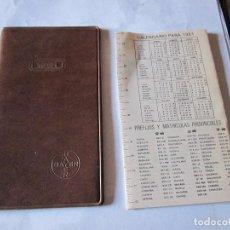 Coleccionismo: AGENDA BAYER 1981. Lote 77801649