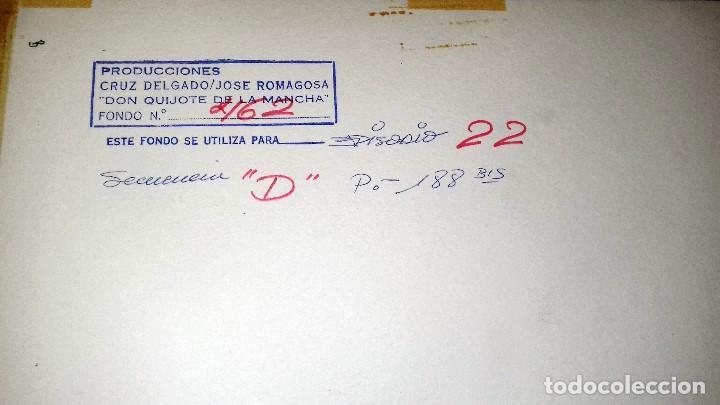 Coleccionismo: FONDO 462 ORIGINAL DE LA SERIE DE DIBUJOS ANIMADOS D. QUIJOTE DE LA MANCHA (1979) - Témpera - Foto 2 - 77859105