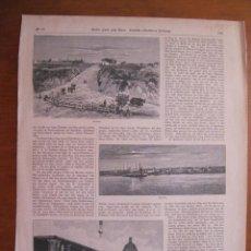Coleccionismo: SEIS VISTAS DE CIUDADES Y PAISAJES RURALES DE PARAGUAY (AMÉRICA DEL SUR), 1895. Lote 78233125