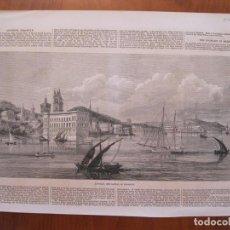 Coleccionismo: VISTA DEL PUERTO DE ASUNCIÓN (PARAGUAY),1870.. Lote 78233433