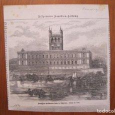 Coleccionismo: VISTA DEL PALACIO DE LOS LÓPEZ, EN ASUNCIÓN,SEDE DEL GOBIERNO DE PARAGUAY, 1870. Lote 78233913