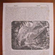Coleccionismo: ESCENA COTIDIANA INDÍGENA EN PARAGUAY (AMÉRICA DEL SUR), 1870.. Lote 78234085