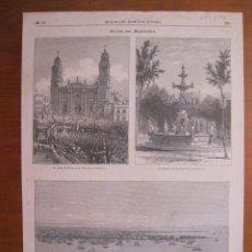 Coleccionismo: DIFERENTES VISTAS DE LA CIUDAD Y PUERTO DE MONTEVIDEO (URUGUAY), 1872. Lote 78234265