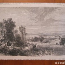 Coleccionismo: VISTA PARORÁMICA DE LOS ALREDEDORES DE ASUNCIÓN (PARAGUAY), 1865. Lote 78234789