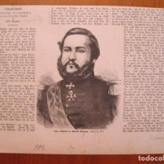 Coleccionismo: RETRATO DE F. SOLANO LÓPEZ, SEGUNDO PRESIDENTE DE PARAGUAY, 1870.. Lote 78235265