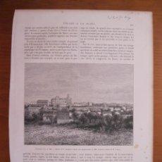 Coleccionismo: VISTA DE LA CIUDAD DE PAYSANDU (URUGUAY, AMÉRICA DEL SUR), 1887. Lote 78235377