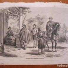 Coleccionismo: VISITA A UNA HACIENDA RURAL EN MONTEVIDEO (URUGUAY), 1866. Lote 78236621