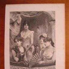 Coleccionismo: MUJERES DE LA ALTA SOCIEAD, DE MONTEVIDEO (URUGUAY, AMÉRICA DEL SUR)), 1887.. Lote 78236801