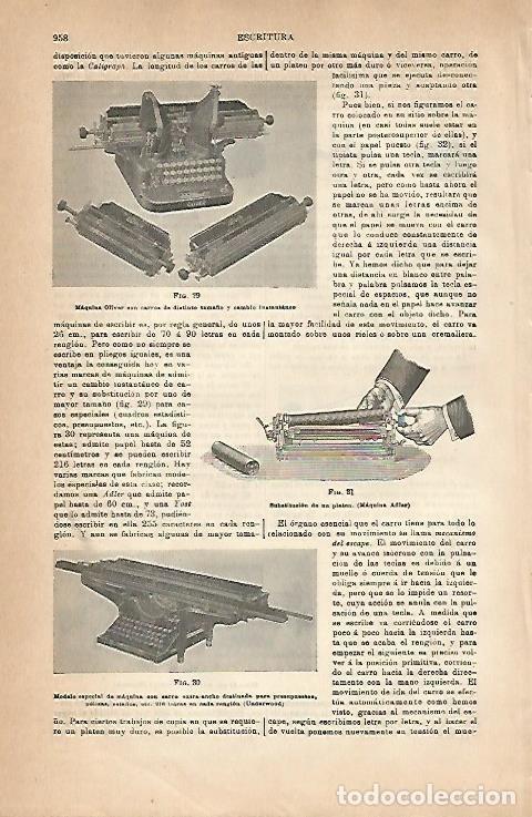 LAMINA ESPASA 18914: MAQUINA OLIVER Y ADLER (Coleccionismo - Laminas, Programas y Otros Documentos)