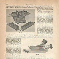 Coleccionismo: LAMINA ESPASA 18914: MAQUINA OLIVER Y ADLER. Lote 78467205