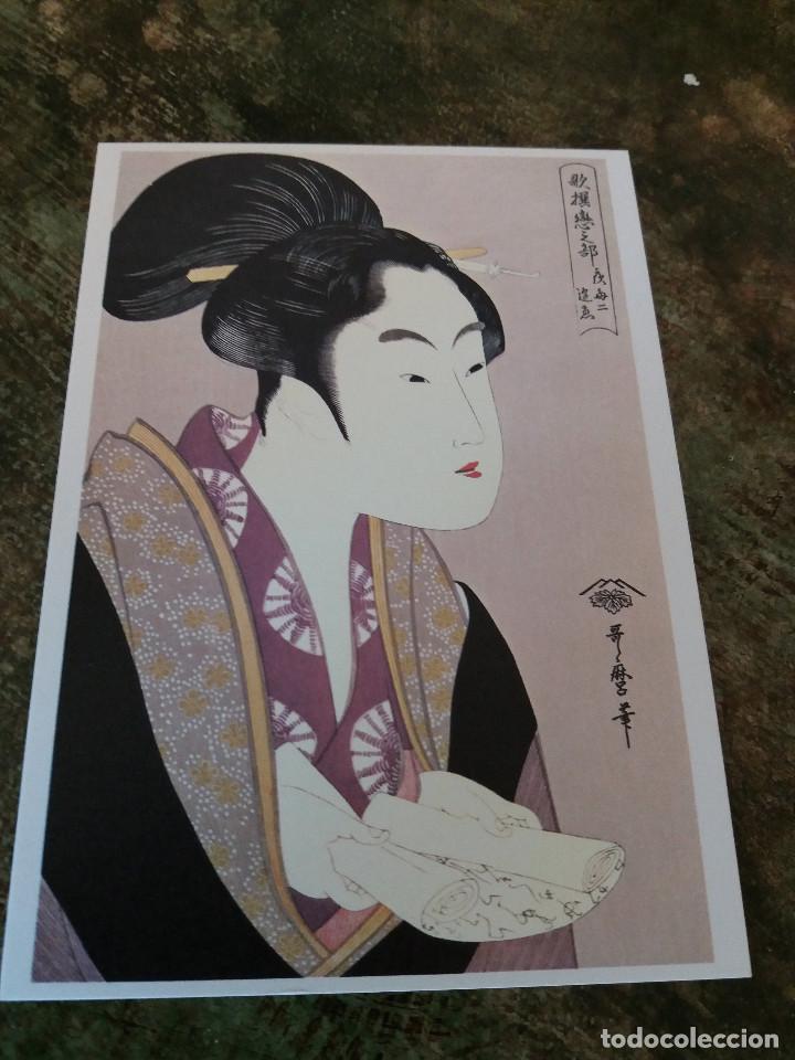 Coleccionismo: postales (4) japonesas Utamaro - Foto 2 - 78599245