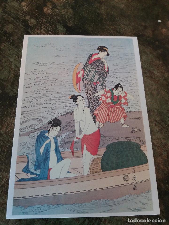 Coleccionismo: postales (4) japonesas Utamaro - Foto 3 - 78599245