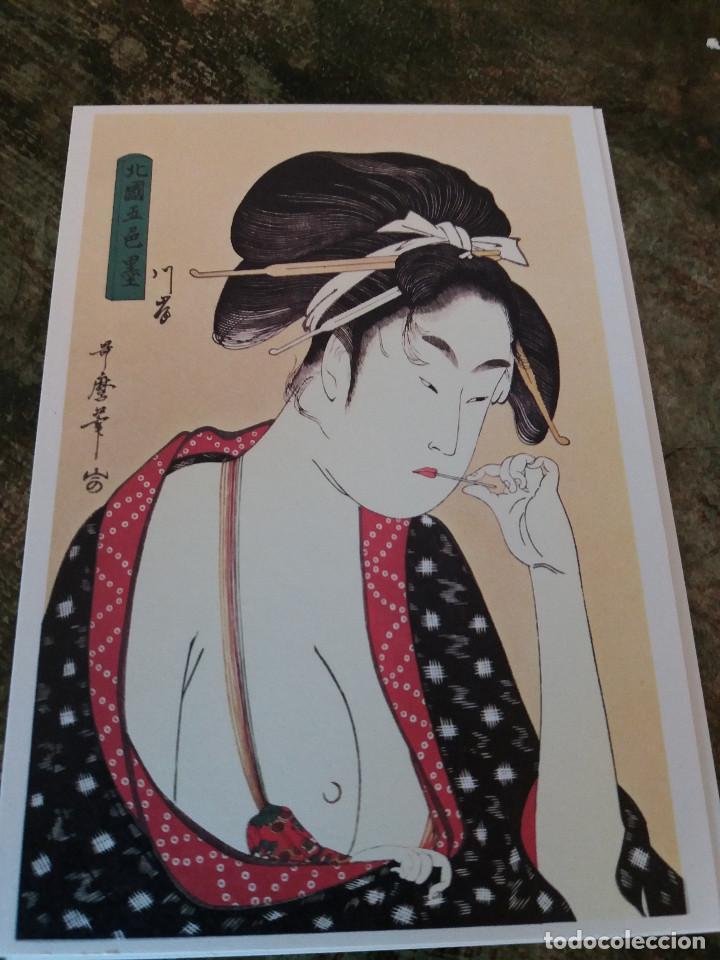 Coleccionismo: postales (4) japonesas Utamaro - Foto 4 - 78599245