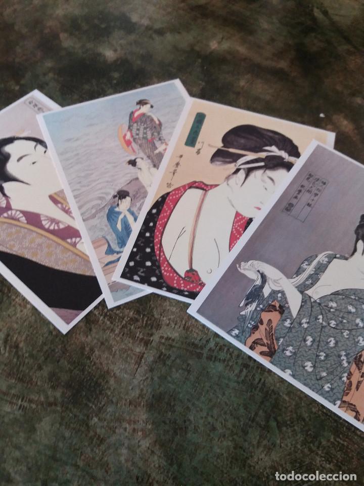 Coleccionismo: postales (4) japonesas Utamaro - Foto 6 - 78599245