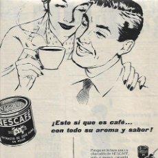 Coleccionismo: AÑO 1957 RECORTE PRENSA RECORTE PRENSA PUBLICIDAD NESCAFE CAFE SOLUBLE. Lote 78919745