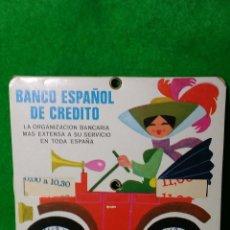 Coleccionismo: ANTIGUO DISCO DE CONTROL DE HORA DEL BANCO ESPAÑOL DE CREDITO AÑO 1971. Lote 78928893