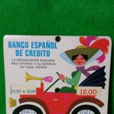 Coleccionismo: ANTIGUO DISCO DE CONTROL DE HORA DEL BANCO ESPAÑOL DE CREDITO DEL AÑO 1971. Lote 78929321