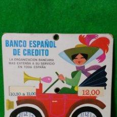 Coleccionismo: ANTIGUO DISCO DE CONTROL DE HORA DEL BANCO ESPAÑOL DE CREDITO DEL AÑO 1971. Lote 78929613