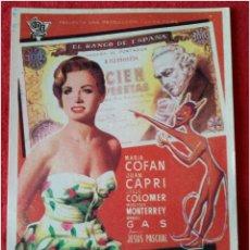 Coleccionismo: PROGRAMA DE CINE EL AZAR SE DIVIERTE. Lote 79050145