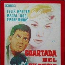 Coleccionismo: PROGRAMA DE CINE COARTADA DEL SILENCIO 1962. Lote 79053553